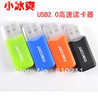 HOT SALE! Dakang card reader mini tf micro sd microsdhc card reader ,little cool ,free shipping 100pcs/lot