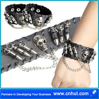 Free Shipping 50 PCS 25 pair Fashion Novel Free Style Hand Decorations Leather Bracelet ---the seven style 06