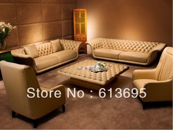 American style living room chesterfield leather sofa furniture