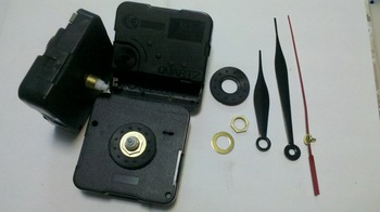 FREE SHIPPING 12mm clock mechanism kit  2piece/lot, for all kinds of  wall clock, with 3hands+rubber+screw+ring