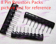 YXS 8-pin 1k Ohm resistors packs A08-102 2.54mm pin pitch(China (Mainland))