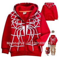 New Kids Cartoon Spider-men Boys Girls Sweatshirt Front Zipper Hoodies Jacket  Aged 2-8years
