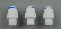 3PCS 1/4 inch OD Tube * 1/4 inch BSP Male Quick Connect RO Water Straight Male BSP And Pipe Without trouble Of Nut
