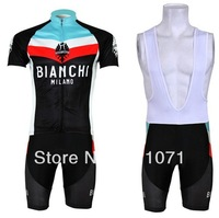 New arrival !!! 2013 Bianchi  team short sleeve cycling jersey and bib shorts/cycling wear/ciclismo clothes/bike jersey