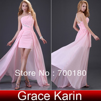 Free Shipping Grace Karin Sexy Front short long Back Party Gown Homecoming Prom Ball Formal Evening Dress 2013 CL3828