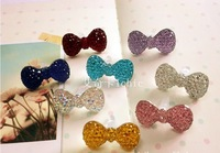 Cute Jelly Colorful Crystal Bowknot Dust Plug Colors Mix 50pcs/lot! for Headphone Free shipping