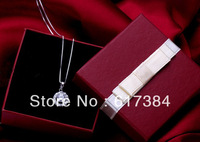10pcs lot  vintage princess necklace earring box red paper gift  jewelry box