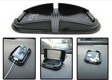 Free Shipping anti-skidding car mobile phone put rack shelf silica gel frame cell phone car phone holder 12pcs/lot(China (Mainland))