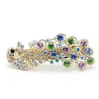 free shipping Hairwear peacock big hairpin hair clip women vintage elegant Fashion barrette 5 colors