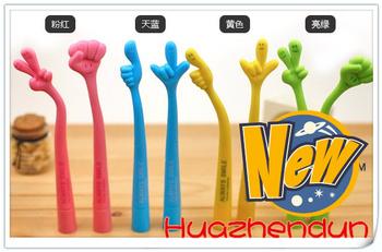 Japan and South Korea creative stationery cartoon bent finger expression pen gesture pen 10pcs/lot