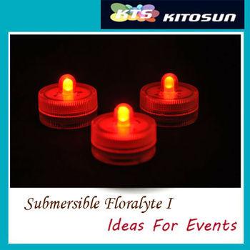 100pcs orange color Valentine Party submersible LED light