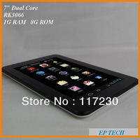 """Hot sell 7"""" Tablet pc 7 Dual core RK3066 1G 8G capacitive 1024*600 Android 4.1 OS HDMI"""