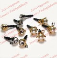 50PCS Smartphone/Cell Phone Charms 3.5mm Audio Adaptor Plugs With Rhinestone Free Shipping!919