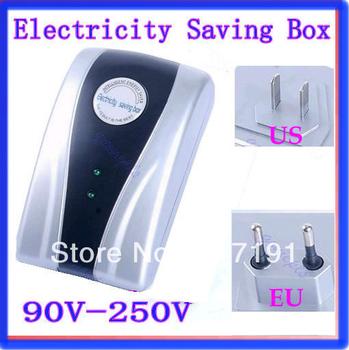 Free Shipping US EU Plug Power Saving Electricity Energy Saver Box AC 90~250V