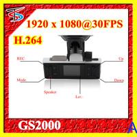 Original Full HD 1920*1080P 30FPS car black box GS2000 With H.264 video Codec+120 Degree+Ambarella+loop record