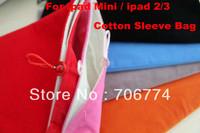 Free shipping Wholesale Soft Sleeve Case Skin Pouch Bag for ipad & ipad 2 ipad mini tablet pc 50pcs/lot