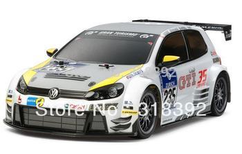 Wholesale Tamiya Scale Models 1/10 Mini RC Sports Car Series 58533  Volkswagen Golf24 TT01E  model car gift
