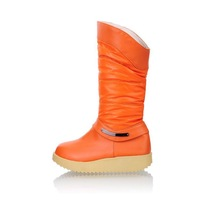 Free shipping Drop shipping 2012 Winter new womens girl Noble Beautiful Buskin Snow Boots  Black/ White/ Orange
