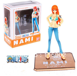 Anime One piece Nami blue 5.6&quot; New world Action figure new in box(China (Mainland))