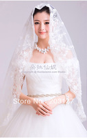 Newest styles bridal wedding soft tulle romantic veil 150cm REAL PICTURE