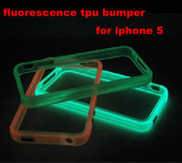 Glowing Bumper Case for iPhone 5 5S 6 Colors free shipping by DHL