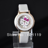 Hello Kitty Fashion Woman's Quartz Watches Jewelry Watch Casual Wrist watch Dropshipping White 061 Wristwatches New