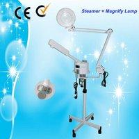100% Guarantee!!! Salon 2 in 1 Facial Steamer + Magnifying Glass Skin Examination Lamp