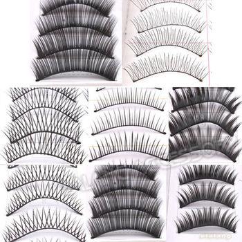 Free Shipping 1set/lot  10 Pairs Thick Cosmetic Long Black False Eyelashes Voluminous Makeup Eye Lash 600239