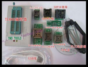 Free shipping TL866cs True USB Willem TL866 Programmer + 7pcs adapters,support 13000 chips WIN7 64bit