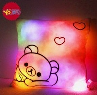 square luminous bear pillow Valentine's Day gifts cute birthday gift
