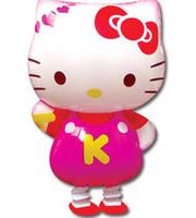Free Shipping  wholesales Hello kitty walking pet balloons , Helium balloons , Promotional toys ,Children toys  50pcs/bags