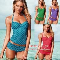 Victoria fashion trigonometric split swimwear size mm push up belt pad female tube top