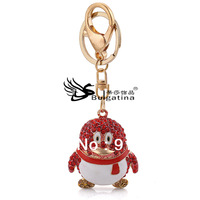 Lovely Animal Key Chain Crystal Rhinestone Key Ring For Gilrs Fashion Jewelry Keychains Free Shipping