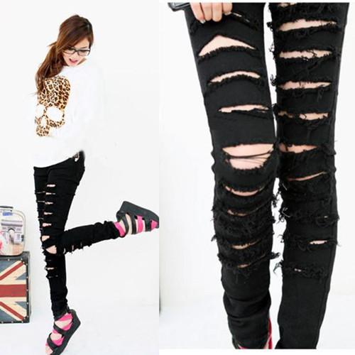 Relooking express de Lily~ [PV Clyde et Lily][TERMINE] Black-Punk-font-b-Rock-b-font-Women-Ripped-Skinny-Pants-Jeans-Leggings-Trousers-WF-3787