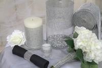 Free Shiping Wedding Cake Decoration Sparkly Diamond Mesh Wrap Party Supplier
