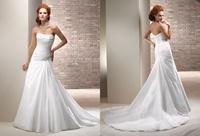 Fashion brief tube top bandage wedding dress wedding dress train a cars welcome formal dress