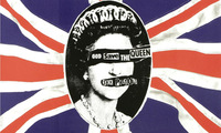 Min.order is $10 (mix order)shipping free Single torx flag sex pistols punk travel bag stickers