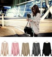 New Fashion Women's Batwing Cape Poncho Knit Top Cardigan Sweater Coat Free Shipping  ay650731