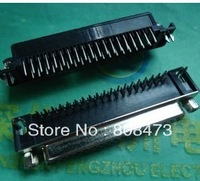 HDR37 DB37 hole two rows of female 37-pin serial port curved legs looper