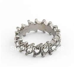 Min order $10 (mix order) Fashion retro stereo individuality ring grey free shipping(China (Mainland))