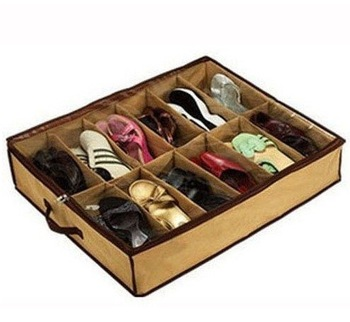 Good quality 12grids Closet Organizer Wholesale Storage Holder Box Container Case Store storage box for shoes ST057-12