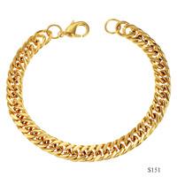 OPK men women 18k gold plated jewelry elegant good quality male hand chain link bracelet bangles ks151