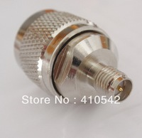 Free shipping 1 piece  N -SMA adapter N male plug to RP SMA female Jack (male Pin) straight RF connector Adapter