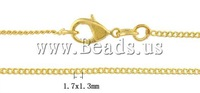 "1.7 mm Gold Color Rolo Chain Necklace 18"" Free Shipping"