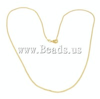 "New Arrival ! 1.5mm Gold Color Circle Link Chain with lobster clasp 18"" Free Shipping"