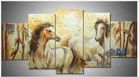 Abstract Animal oil painting:Horse Guaranteed 100% Free shipping
