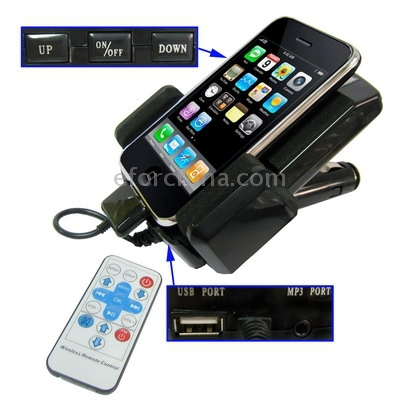 7 in 1 car kit & FM Transmitter for iPhone 3G, iPhone, iPod(China (Mainland))
