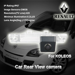 Free dropshipping AUTO reverse led car rear view camera For RENANLT KOLEOS waterproof wide 170 angle night vision(China (Mainland))
