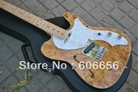 New Style Telecaster Hollow jazz  natural burst electric guitar Free Shipping