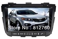 "New!! 8""Car DVD Player GPS For 2013 Kia Sorento with Navigation TV Ipod RDS Radio Bluetooth Audio Video Free shipping"